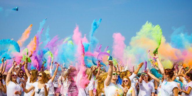 fête colorée